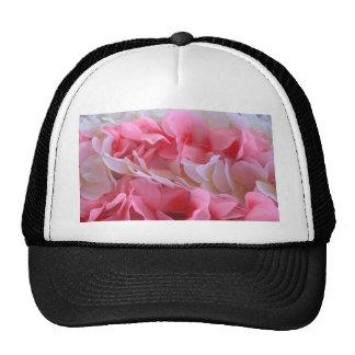 pink white lei hat
