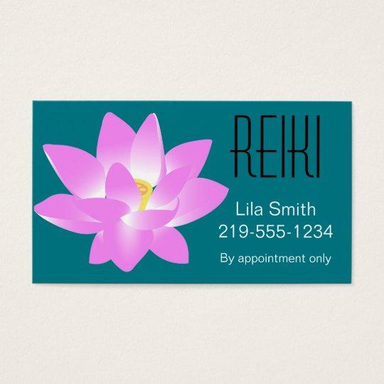 Pink & White Lotus Flower Business Card