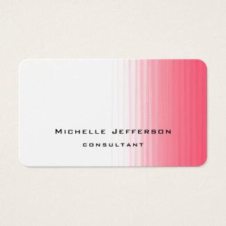 Pink White Modern Stylish Trendy Minimalist Business Card