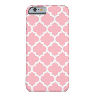 Pink White Moroccan Quatrefoil Pattern #5 Barely There iPhone 6 Case