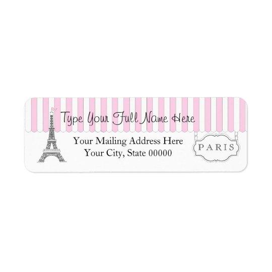 Pink | White Paris Eiffel Tower Name