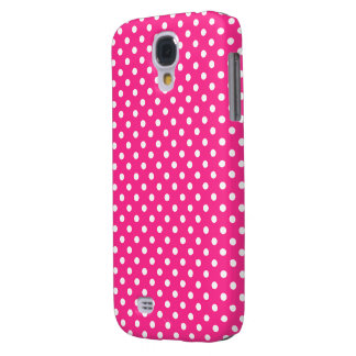 Pink & White Polka Dot Galaxy S4 Case
