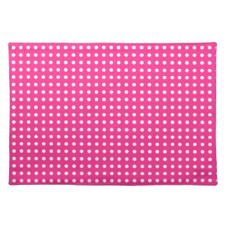 Pink & White Polka Dot Place Mat