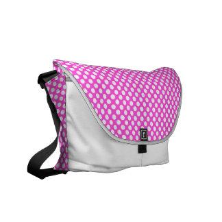 Pink White Polka Dots - Messenger Bag