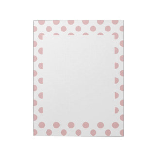 Pink White Polka Dots Pattern Notepad