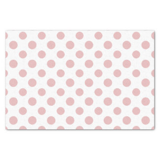 Pink White Polka Dots Pattern Tissue Paper