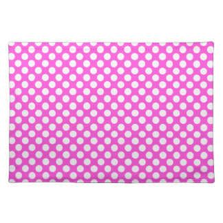 Pink White Polka Dots - Placemat