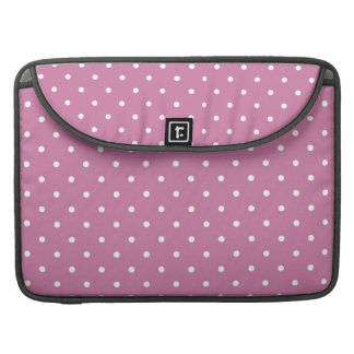 Pink White Polka Dots Sleeve For MacBooks