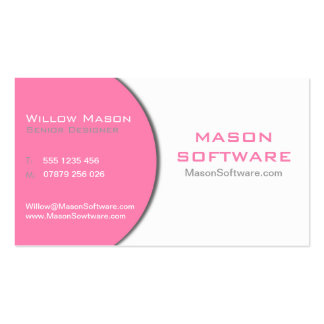 Pink & White Professional Female Business Card