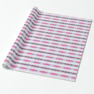 Pink, White, Purple And Blue Abstract Pattern Wrapping Paper