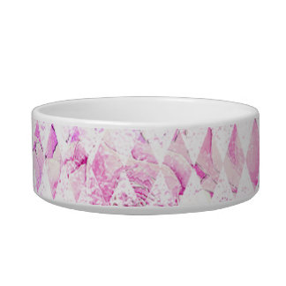 Pink White Purple Diamond Bowl