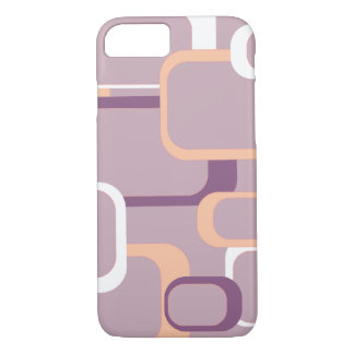 Pink White Purple Retro Squares iPhone 8/7 Case