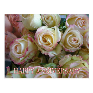 Pink & white rose bouquet post cards
