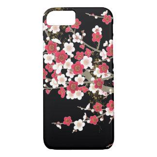 Pink & White Sakura Vintage Japanese Flower iPhone 7 Case
