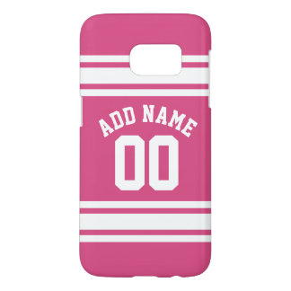 Pink White Sports Jersey with Name and Number