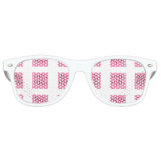 Pink & White square art Adult Retro Party Shades