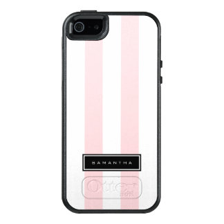 Pink & White Stripes OtterBox iPhone 5/5s/SE Case