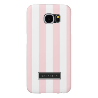 Pink & White Stripes Samsung Galaxy S6 Cases