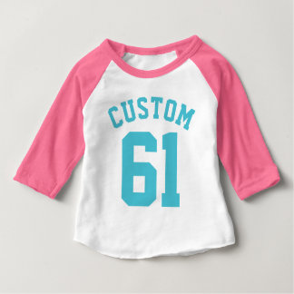 Pink White & Turquoise Baby | Sports Jersey T-shirts