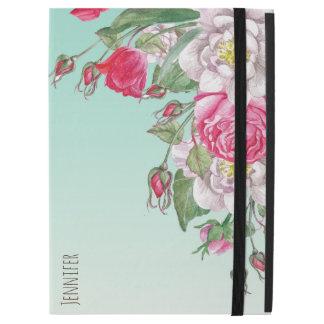 Pink & White Vintage Roses Watercolors GR2