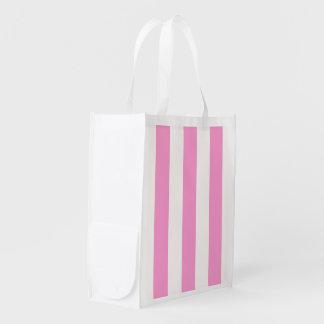 Pink White XL Stripes Pattern