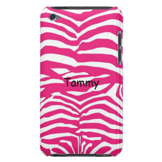 Pink & White Zebra Print iPod Touch Cover