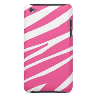 Pink White Zebra Stripes Pern  Case-Mate iPod Touch Case