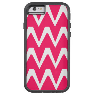 Pink & White ZigZag Tough Xtreme iPhone 6 Case