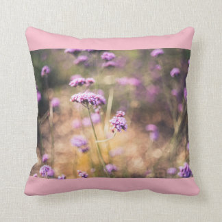 Pink wild flowers cushion