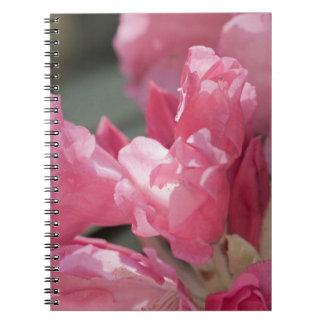 Pink wild flowers spiral notebook