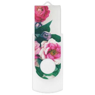 Pink Wild Rose Flower Bouquet Love Bible Verse USB Flash Drive