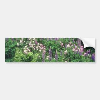 Pink Wildflower garden flowers Bumper Sticker