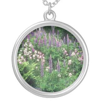 Pink Wildflower garden flowers Pendants