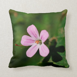 "Pink Wildflower, Throw Pillow 16"" x 16"""