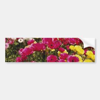 Pink Wildflowers in bloom flowers Bumper Sticker