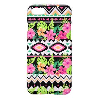 Pink Wildflowers Tribal Pattern iPhone 7 Case