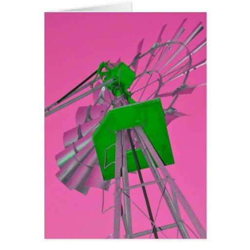 Pink Windmill Card