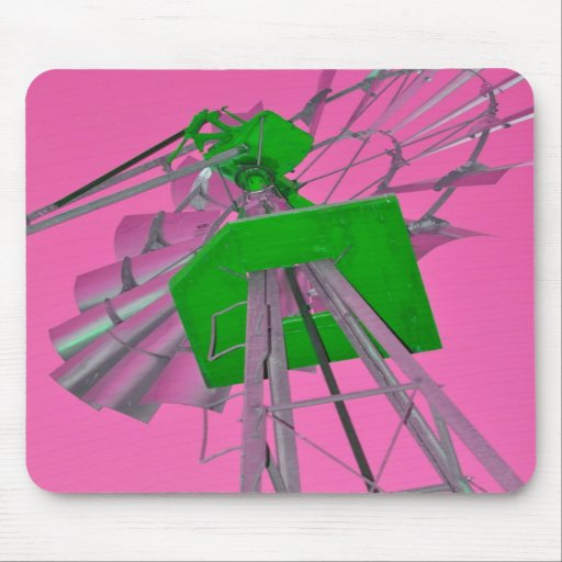 Pink Windmill Mouse Pad