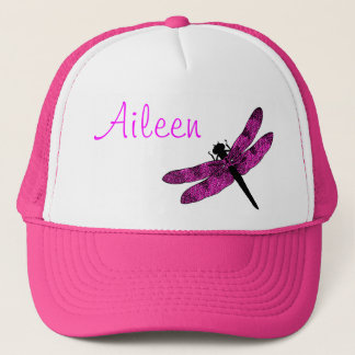 Pink Winged Dragonfly Trucker Hat