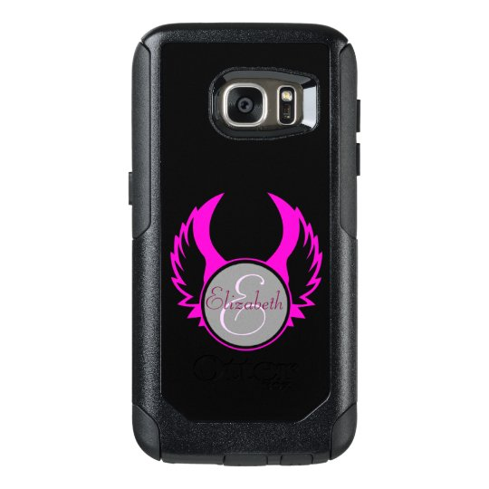 Pink Winged Monogram OtterBox Samsung Galaxy S7 Case