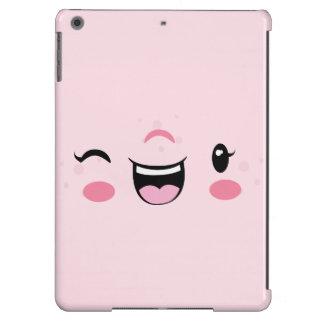Pink Winking Kawaii Face iPad Air Case