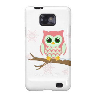 Pink winter owl galaxy s2 covers