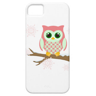 Pink winter owl iPhone 5 case
