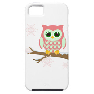 Pink winter owl iPhone 5 covers