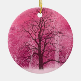 pink winter wonderland oranament christmas ornament