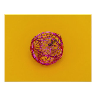 Pink wire Christmas bauble 21.5 Cm X 28 Cm Flyer