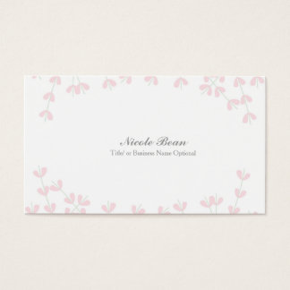 Pink Wispy Rustic Vine Elegant Floral Branch Business Card