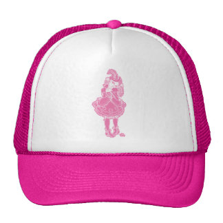 Pink Witch Mesh Hats