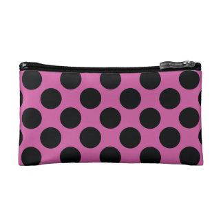 Pink with black dots makeup bag
