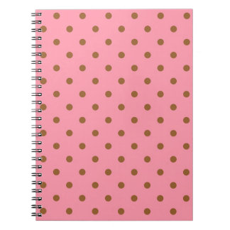 Pink with Brown Polka Dots Notebooks